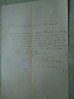 D137988.37 Old Document   Hungary  J.KNOVICZ -ZS. MATUS - Budapest  1885 - Fiançailles