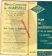 13 - MARSEILLE- 1942-PLAN ET BANLIEUE CUQUES- GAVOTTE- FREZET- DE SAINT ANTOINE A MAZARGUES-ALLAUCH A LA BARASSE- - Dépliants Touristiques