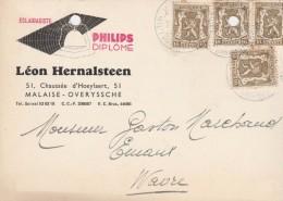 Publicité , Malaise- Overyssche ,éclairagiste PHILIPS ,Léon Hernalsteen (La Hulpe) - Overijse