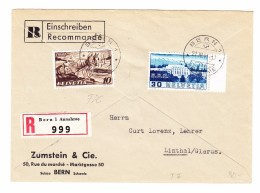 Schweiz Werbe 21.3.1941 Bern 1 Mit U.a. #252 FDC R-Brief Nach Linthal - Schweiz