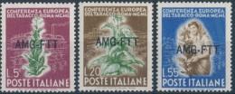 """TRIESTE A.M.G. F.T.T. 1950  """"CONFERENZA EUROPEA DEL TABACCO"""" MNH** - 7. Trieste"""