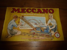 Manuel D'Instruction/ MECCANO-Paris  La Mécanique En Miniature N°3 Bobigny  (couverture Signée G. Arou 47)  En 40 Pages - Meccano