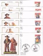 France Santons Série Enveloppes 1er Jour - France