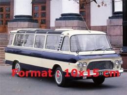Reproduction D'une Photographie D'un Petit Bus Bleu Panoramique Russe - Reproductions