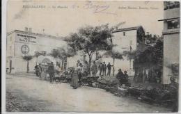 CPA GARD Bellegarde Le Marché Savon Commerce écrite - Bellegarde