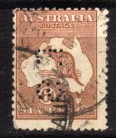 "AUSTRALIEN 1915 - MiNr: 45 III  Perfin: "" F.S""  Used - 1913-48 Kangaroos"