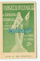 Br - ESPERANTO - CONGRES INTERNATIONAL De PARIS Mars/avril 1910 - LANGUE - LANGUAGE - RARE Et INCONNUE Sur Le Site - Esperanto