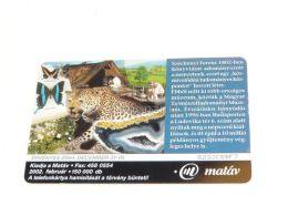Leopard Butterfly Schmetterling Magyar Természettudományi Múzeum Museum Telefonkarte Phonecard Hungary - Tarjetas Telefónicas