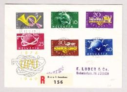 Schweiz Werbe 16.5.1949 Schweiz.PTT Postbureau #291-296 UPU FDC R-Brief Nach Zürich - Schweiz