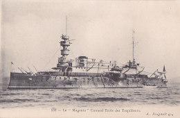 """Bb - Cpa Le """"Magenta"""" Cuirassé Ecole Des Torpilleurs - Warships"""