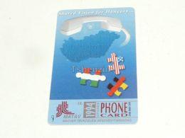 Germany America USA Hungary Puzzle Telefonkarte Phonecard Hungary - Rompecabezas