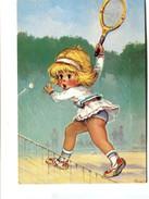 """Cp - Tennis """"la Montée Au Filet"""" CMT 0153 -  """"Les MOMES"""" Par Michel THOMAS - - Thomas"""