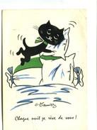 Cp - Chat - Chaque Nuit Je Rêve De Vous ! - Illustrateur G. Meunier - Meunier, G.