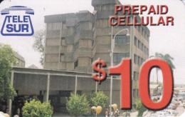 TARJETA DE SURINAM DE TELE SUR DE $10 EDIFICIO - Surinam