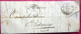 13 CACHET  MARSEILLE  A BEDARIEUX  TRES LISIBLE 1837 - Marcophilie (Lettres)