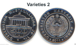 UZBEKISTAN: 500 Som (Sum) 20 Years Of Independence*2011*UNC P-New Varieties 2 - Uzbenisktán
