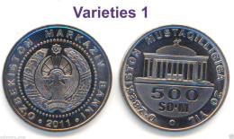 UZBEKISTAN: 500 Som (Sum) 20 Years Of Independence*2011*UNC P-New Varieties 1 - Uzbenisktán
