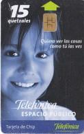 TARJETA DE GUATEMALA DE TELEFONICA ESPACIO PUBLICO (NIÑO-A) - Guatemala