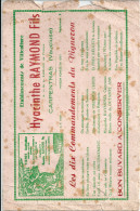 84 CARPENTRAS VITICULTURE VIN AGRICULTURE BUVARD CIGARETTES PAPIER - Farm