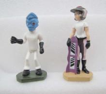 Céréales WEETOS 2001 : Figurines Butt-Ugly Martians N°3 Dr. Damage & N°7 Angela - Figurines