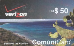TARJETA DE REP. DOMINICANA DE 50$ DE LA BAHIA DE LAS AGUILAS (CACTUS-CHUMBERA)