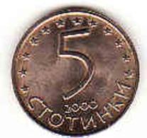 Bulgarien - Bulgaria, 5 Stotonki 2000, Brass - Bulgarien