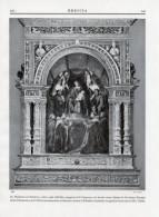 Fotoincisione MADONNA COL BAMBINO E SANTI (Gerolamo Romani Detto Il Romanino) San Francesco, Brescia - OTTIMA - Prints & Engravings