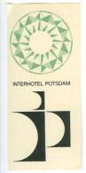 Etiquette Valise Hotel Interhotel Potsdam Pologne Luggage Label Poland - Hotel Labels