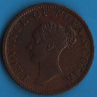 NOVA SCOTIA Province - 1/2 Penny 1840 HALF PENNY TOKEN VICTORIA - Royal / Of Nobility