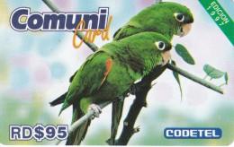 TARJETA DE REP. DOMINICANA DE 95$ DE UNOS LOROS EDICION 1997 (LORO-PARROT) CODETEL