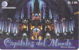 TARJETA DE PANAMA DE CABLE & WIRELESS DE B/3.00 NOTRE DAME-PARIS-FRANCIA - Panama