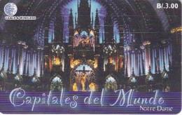 TARJETA DE PANAMA DE CABLE & WIRELESS DE B/3.00 NOTRE DAME-PARIS-FRANCIA