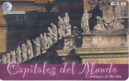 TARJETA DE PANAMA DE CABLE & WIRELESS DE B/5.00 COLUMNATA DE BERNINI - Panamá