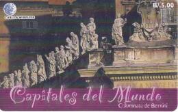 TARJETA DE PANAMA DE CABLE & WIRELESS DE B/5.00 COLUMNATA DE BERNINI