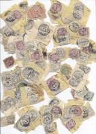 Petit Lot De Timbre Poste , Timbres Postes Type Blanc En Vrac Collés Sur Lettre Déchirée Beaucoup De 1c Quelques 2c 3c 5 - 1900-29 Blanc