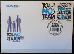 ! ARGENTINE / ARGENTINA: Human Trafficking / Traite Des êtres Humains (2016) FDC / 1er Jour - FDC