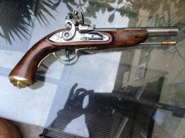 Rare Pistolet à Silex 1771 En Calibre 44 ! Très Puissant Au Tir! état Superbe ! Année 70/80 - Armes Neutralisées