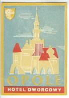 Etiquette Valise Hotel Pologne Luggage Label Poland - Etiquettes D'hotels
