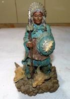 STATUE FIGURINE CHEF INDIEN BON ETAT 16.5 Cm - Sculptures