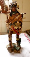 STATUE FIGURINE INDIEN BON ETAT 40 Cm - Sculptures