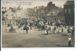Bohain-Fête De Gymnastique Du 29 Juillet 1906-carte Photo - Autres Communes