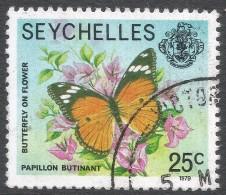 Seychelles. 1977 Marine Life. 25c Used. 1979 Date Imprint SG 408A - Seychelles (1976-...)