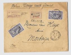 61 – ORNE  « MOULINS La Marche »L.I. 2èmeEch. « Chargé » -  Affrancht. à 1F20  (1.4.1920/2 - Storia Postale
