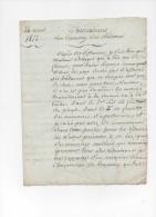 Lettre Manuscrit Observations Sur L'entretien Des Bâtimens Bâtiments Sologne 4 Pages 1812 - Manuscripts