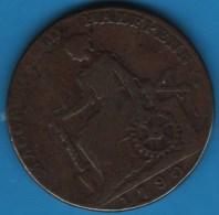 MACCLESFIELD 1/2 HALF PENNY 1790 CHARLES ROE ESTABLISHED THE COPPER WORKS - Professionals/Firms