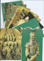 Asie Chine CHINA Qin Shihuang´s Tarracotta Warriors And Horses / Lot De 12 Cartes (QUIN SHI HUANG Empereur Art Funéraire - Postcards