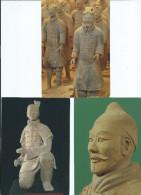 Asie Chine CHINA Qin Shihuang´s Tarracotta Army Armée En Terre Cuite/ Lot De 3 Cartes (QUIN SHI HUANG Empereur) - Postcards