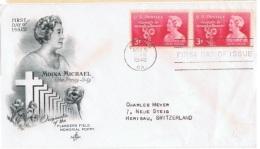 FLORA-L226 - ETATS-UNIS FDC Moina Michael 1948 Avec Fleurs De Pavot - Other