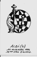 CPM Jeu échecs Chess Non Circulé 10 X 15 ALBI - Echecs