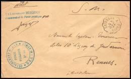 3135/ Lettre France Guerre 1914/1918 Gendarmerie N°10 Détachement Mobile 6ème Armée 1915 Convoyeur Soissons à Paris - Marcophilie (Lettres)